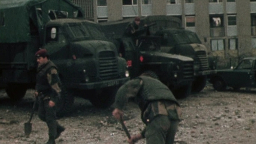 British soldiers clear up following the Ballymurphy shootings in 1971