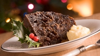 Festive Fruity Steamed Pudding  - Serve with lightly whipped cream.