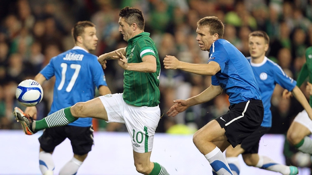 The Irish skipper started brightly and caused the Estonians some problems