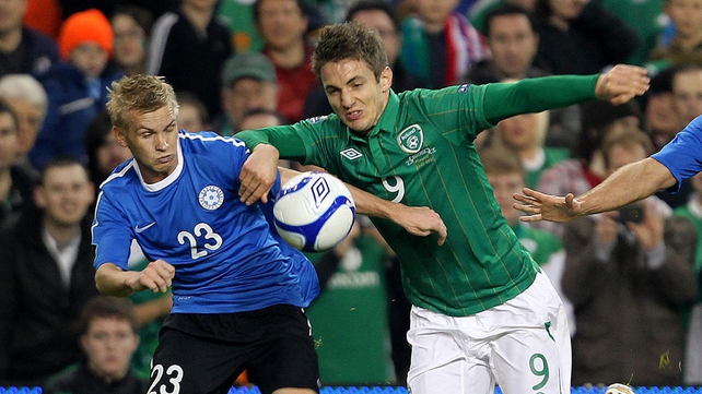 Kevin Doyle's intensity was echoed right through the Irish side in the first half