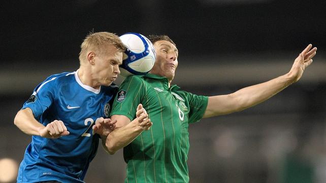 Keith Andrews battles away in midfield