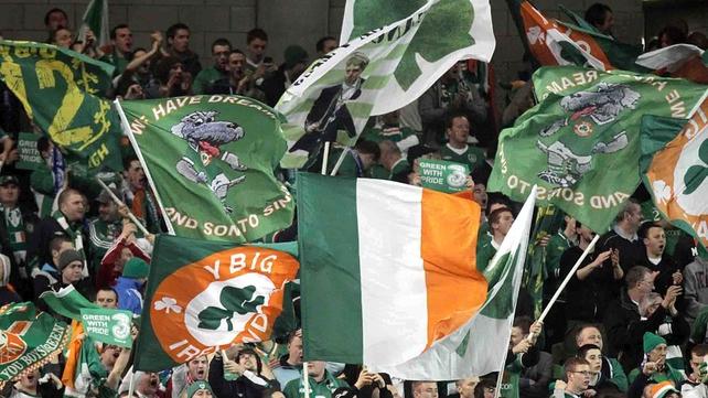 The Irish fans were in celebratory mood