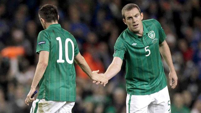 Irish heroes. Robbie Keane and Richard Dunne