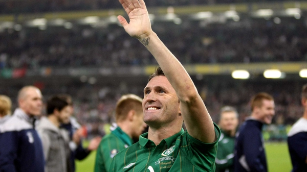 Ireland captain Robbie Keane after Ireland's play-off victory over Estonia