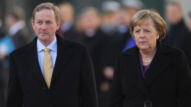 Enda Kenny and Angela Merkel in Berlin