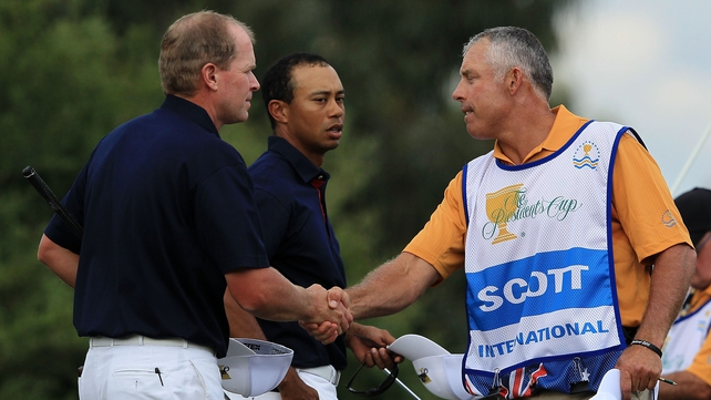 Steve Williams and Tigers Woods came face to face