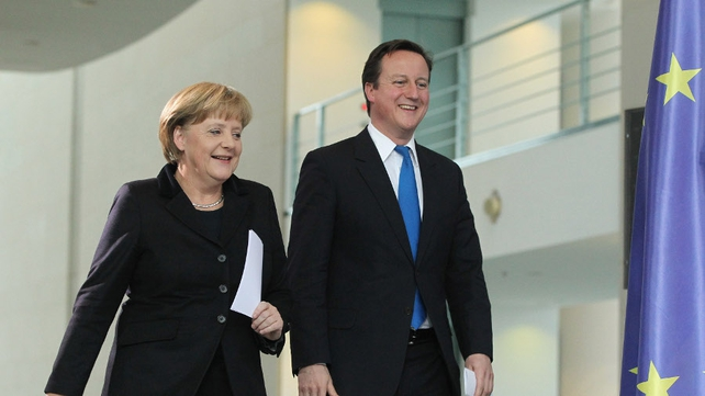Angela Merkel and David Cameron agree that a strong euro is in everyone's interests