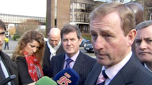 Enda Kenny said people he spoke to would prefer not to see an income tax rise