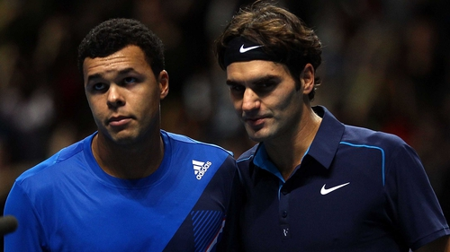 Roger Federer has won 11 of his 15 career meetings with Jo-Wilfried Tsonga