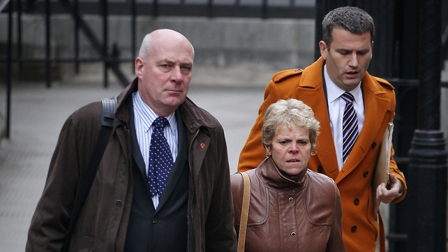 Bob and Sally Dowler arrived with their solicitor to give evidence