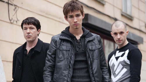 Aidan Gillen, Robert Sheehan and Tom Vaughan-Lawlor