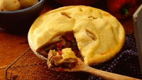 Dungarvan Stout and beef Pie - An old fashioned, warming recipe - which uses suet!