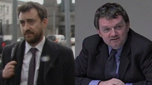 Current Affairs Editor Ken O'Shea (left) and Managing Director of News Ed Mulhall