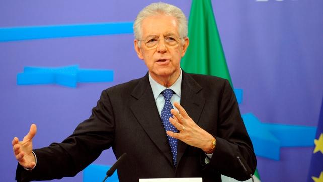 Mario Monti will meet Angela Merkel and Nicolas Sarkozy today