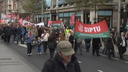 March was backed by unions