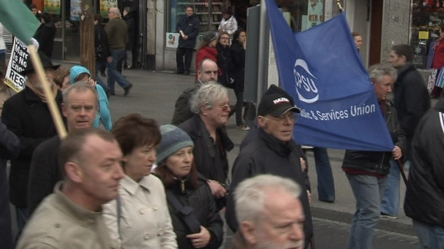 Up to 2,000 people took part in the demonstration
