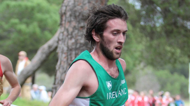 Joe Sweeney secured victory in the Woodie's DIY National Inter County Cross Country Championships