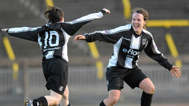 Raheny United have gone top of the table beating Peamont 2-0