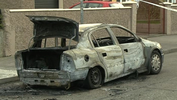 Burnt out car found on Inagh Road