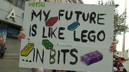 students are angry at a rise in registration fees