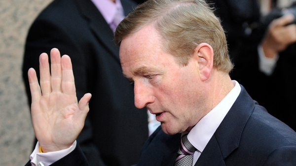 Enda Kenny said the Anglo promissory notes issue was separate to the intergovernmental treaty
