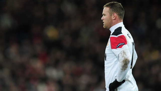 Wayne Rooney sat in the Old Trafford stands as Manchester United suffered a shock defeat