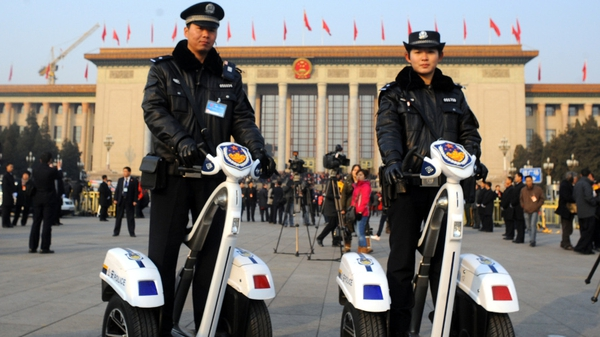 Chinese police enforce the law in Beijing with help of Segways