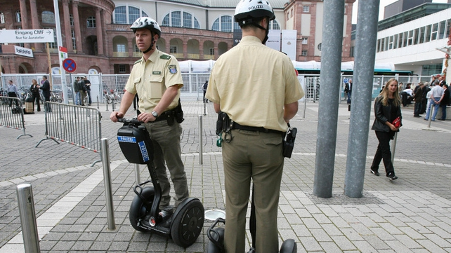 Polizei in Frankfurt have been using segways for several years