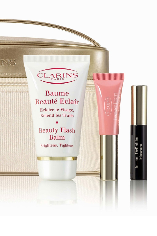 Containing a full size Beauty Flash balm and mini lip gloss and mascara for €35.