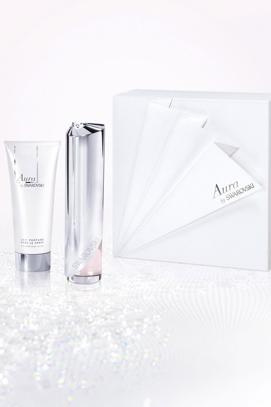 A beautiful set containting a 50ml perfume plus a 100ml scented body lotion, €69.