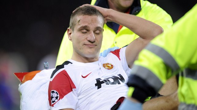 Nemanja Vidic - Leaves the field on a stretcher on Wednesday night