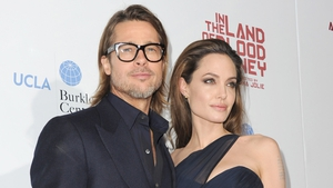 """Pitt, pictured with fiancée Jolie, said: """"I have my family and I haven't known life to be any happier."""""""