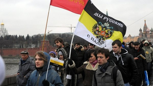 An estimated 50,000 people rallied in Moscow