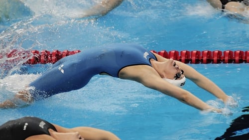 Melanie Nocher clocked a faster time in the heats of the 200 metres backstroke than in the final