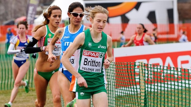 European Cross Country Champion - Fionnuala Britton led her rivals a merry dance in Slovenia