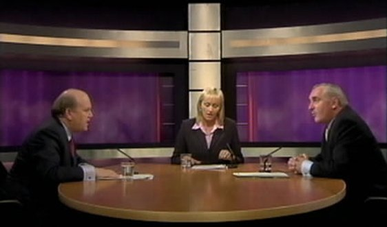 General Election 2002 : Leaders Debate between Michael Noonan & Bernie Ahern