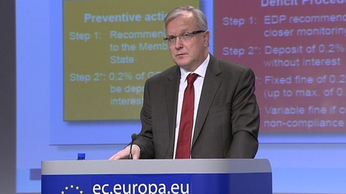 Olli Rehn said the European Commission was committed to finding a solution to Ireland's debt burden issue