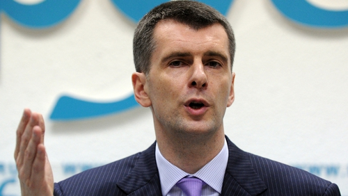 Mikhail Prokhorov to run for presidency in Russia
