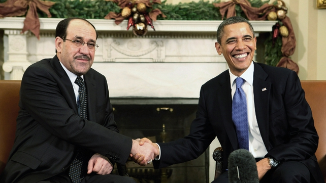 Iraqi Prime Minister Nuri al-Maliki meets President Barack Obama