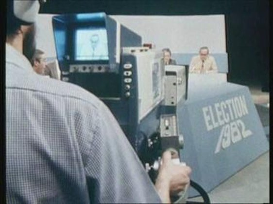Studio camera for coverage of the 1982 general election.