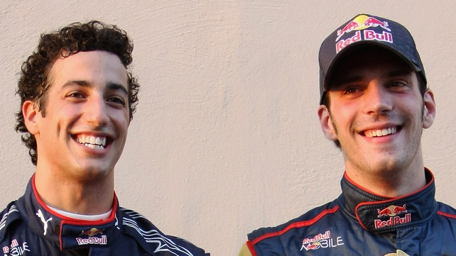 (L-R) Daniel Ricciardo and Jean-Eric Vergne