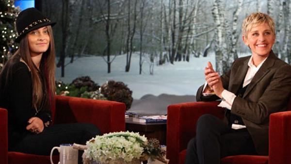 Paris Jackson on the Ellen DeGeneres Show