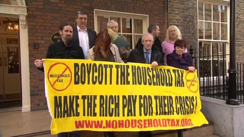 There have been protests against the Household Charge