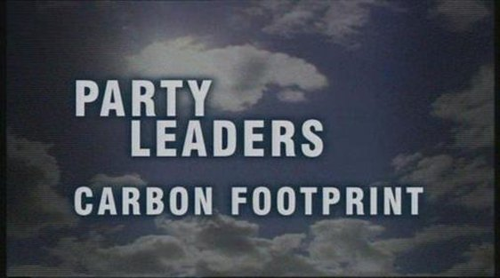 "RTÉ News graphic ""Party Leaders Carbon Footprint"""