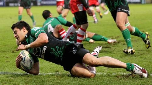 Tiernan O'Halloran touches down for Connacht