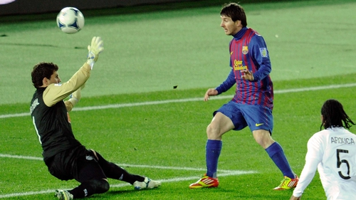 Lionel Messi scores one of his 86 goals this year