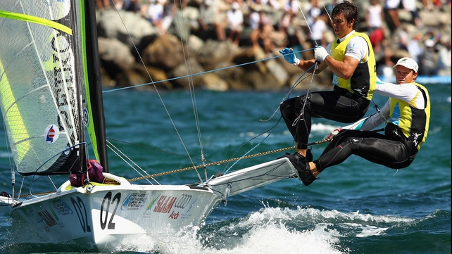 49er winners - Australia pair Iain Jensen Nathan Outteridge