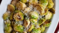 Pan-Fried Parmesan Brussels Sprouts - This could be the recipe to win you over!