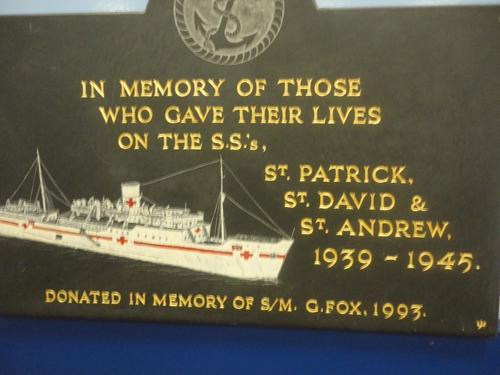 Memorial in Fishguard Ferry Terminal