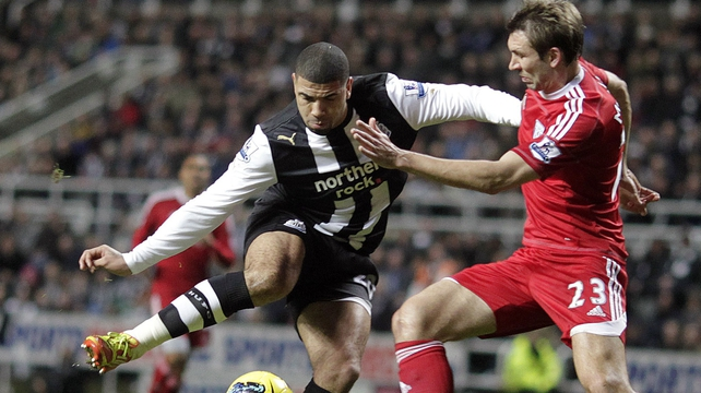 Leon Best was in action for the Magpies against WBA